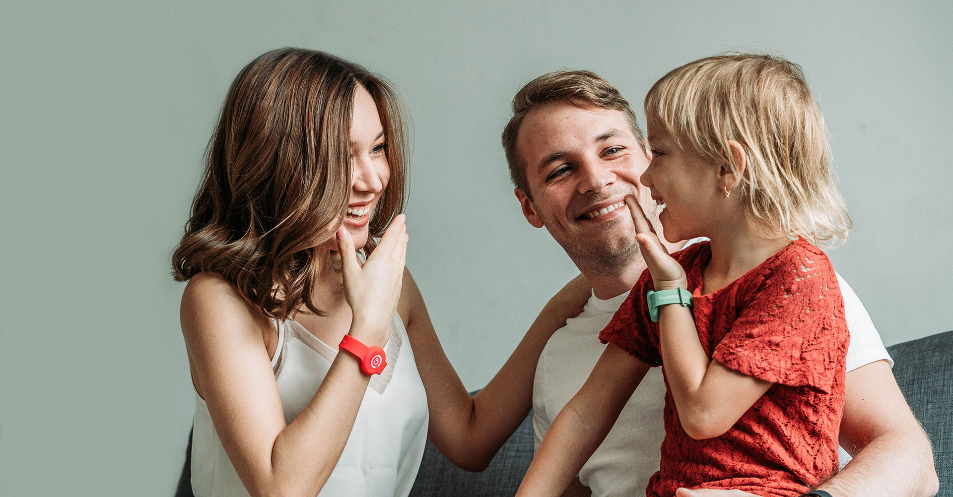 family laughing together bonding time