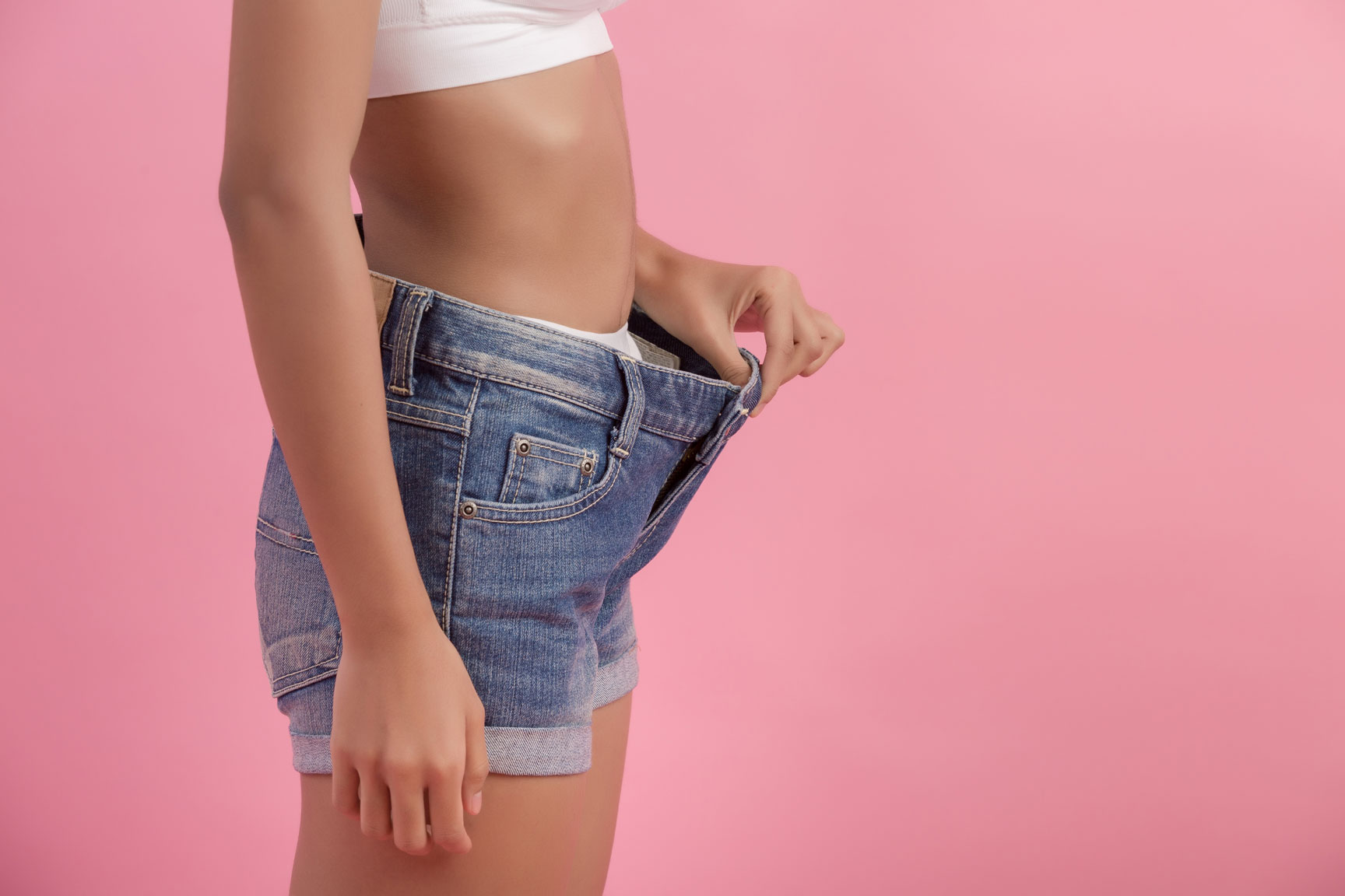 poc woman diet weightloss loose shorts or pants